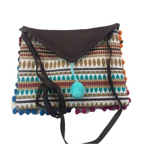 Indian Hippie Hippy Chic Clutch Pouch Leather Handbag