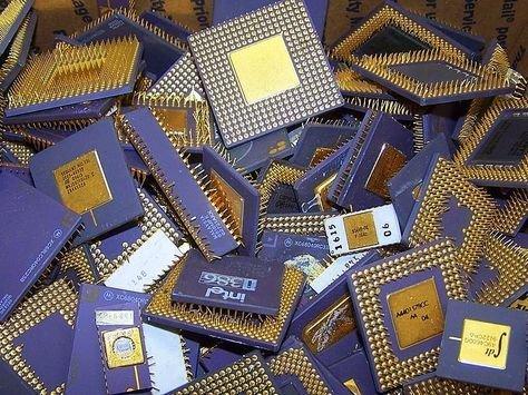 Pentium Pro Ceramic CPU Scrap