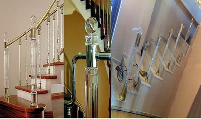 Any Color Easily Assembled Acrylic Handrail