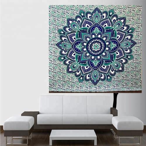 Indian Tara Mandala 100% Cotton Wall Hanging Tapestry
