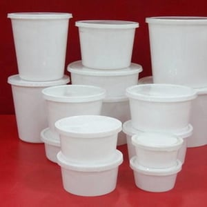 White Color Disposable Container