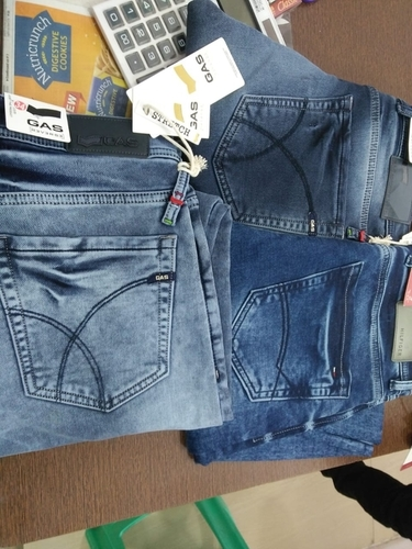 No Fade Branded Mens Blue Jeans