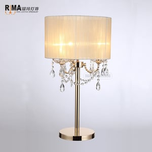 Rm8124 French Gold Bedside Table Light