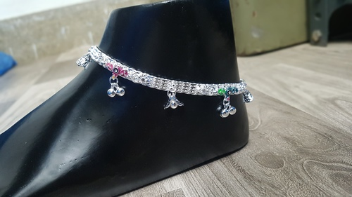 Silver Anklets In Agra, Silver Anklets Dealers & Traders In