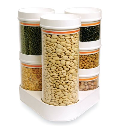 Plastic Crystal Food Container Combo With Stand