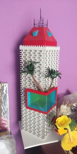 Miniature Paper Architecture Building