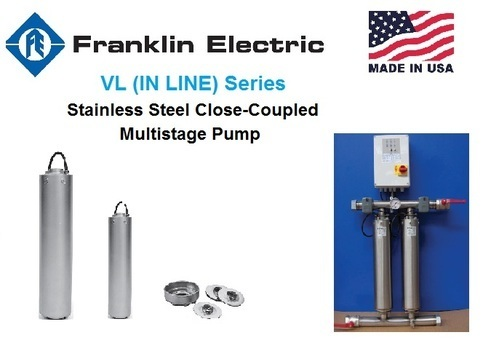 VL (IN LINE) Series - Stainless Steel Close-Coupled Multistage Pump