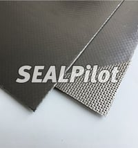 Reinforced Graphite Sheet (Purity 99%) With Perforated Stainless Steel Insert
