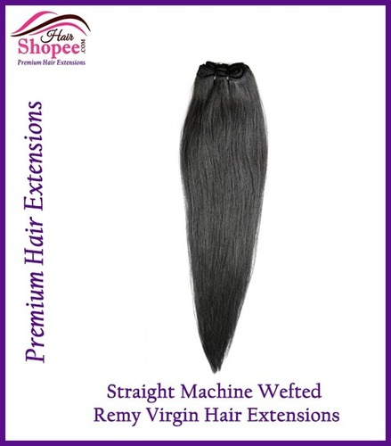 Straight Wefted Hair Extension