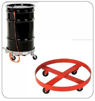 Metal Body Round Drum Trolley