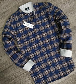 Full Sleeves Mens Casual Shirt With Chinese Collar