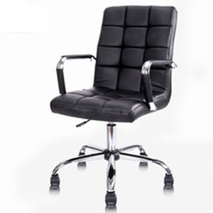 Rolling Black Modern PU Leather Chair Office Furniture Computer Chair