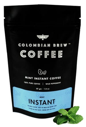 50g Mint Instant Coffee (Colombian Brew)