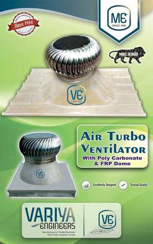 Air Turbo Ventilator With Poly Carbonate And Frp Dome