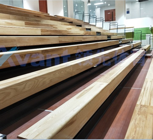 Automatic Wood Bleachers And Wooden Stadium Seats