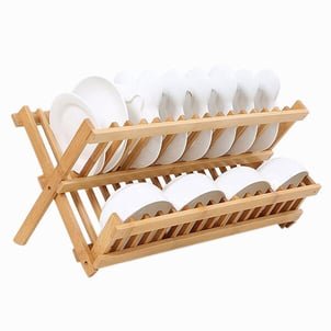 Hot Sale Wooden Collapsible Dish Drying Rack