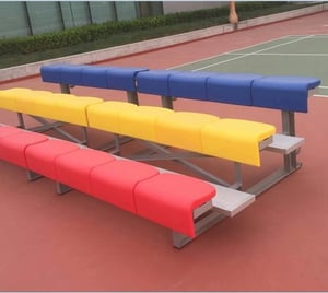 Metal Tip-N Roll Bleacher, Bench With Plastic Seats