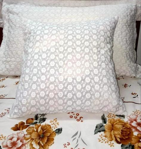 Cotton White Cushion Cover