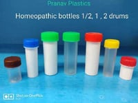 Empty Plastic Homeopathic Bottles