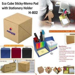 Echo Cube Sticky Memo Pad With Stationery Holder