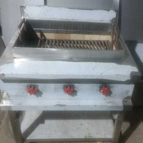 Gas And Charcoal Grill For Seekh Kabab Material: Color Steel