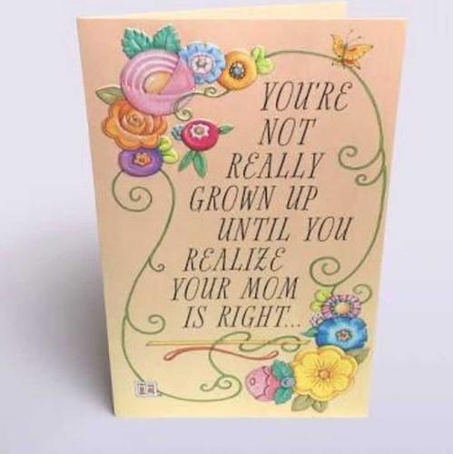 Flower Print Birthday Greeting Card