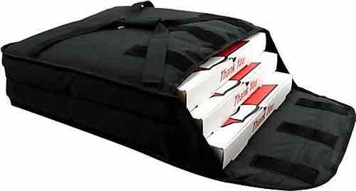 Black Insulated Pizza Delivery Bags