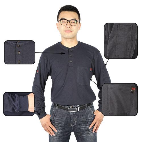 Fire Retardant Blue Safety T Shirts