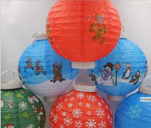 Colorful Paper Lantern With Led Lighting