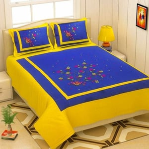 Printed Double Bed Sheets With Pillow Cover