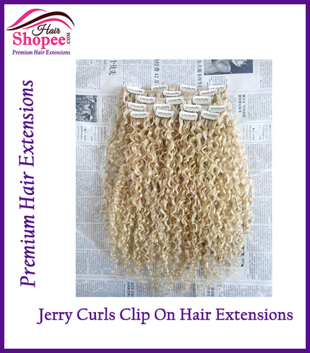 Jerry Curl Clip On Hair Extensions