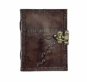 Leather Diary With Engraved Journey