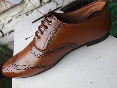 Mens Brown Pointed Leather Shoes