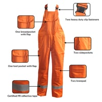 Flame Retardant Fabric For Cotton Work Overalls
