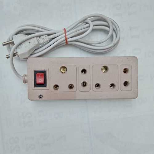 White 3 And 2 Pin Socket Power Strip