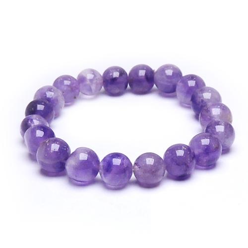 Natural Stone Amethyst Bead Bracelet