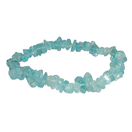 Natural Stone Apatite Gemstone Chips Bracelet
