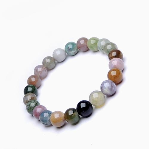 Natural Stone Bloodstone (Heliotrope) Beads Bracelet