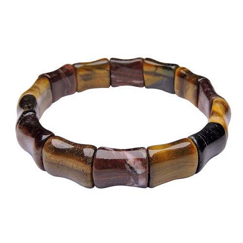 Natural Stone Tiger Eye Dumroo Bracelet
