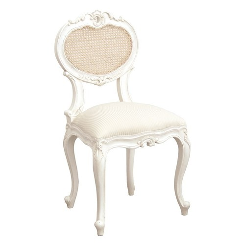 White Painted French Design Chair