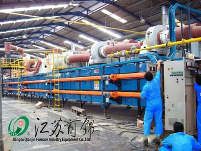 Roller Kiln With Double Deck Natural Gas Certifications: Iso9001