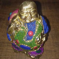 Brass Color Stone Laughing Buddha