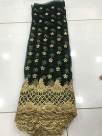 Fancy Net Embroidered Daman Fabric