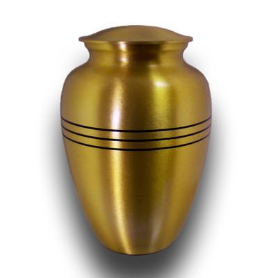 Golden Precise Dimension Aluminium Urns