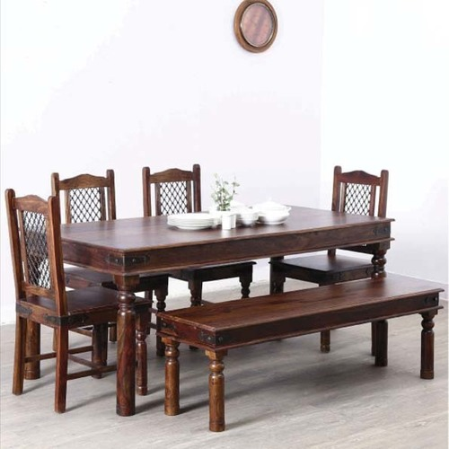 Brown Chocolate Color Wooden Dining Set
