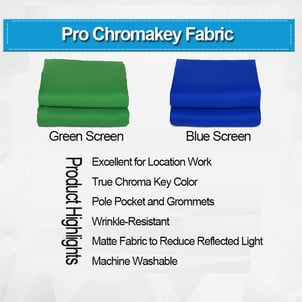 Green And Blue Screen Chromakey Body Suit Fabric