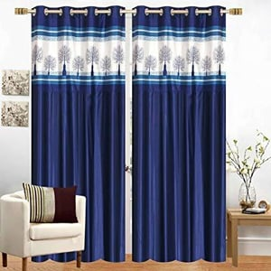 Long Crush Patch Curtains