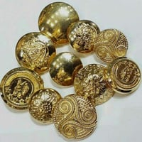 Round Shape Metal Coat Button