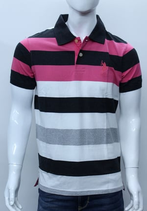 Multicolor Striped Branded T-Shirt