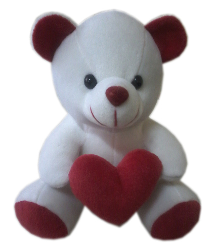 White And Red Soft Chubby Teddy Bear